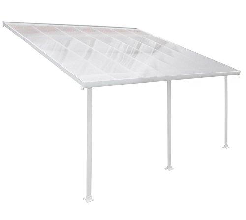 Cubierta de aluminio de alta calidad para terraza, 400 x 425 cm, color blanco