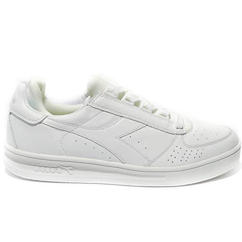 Diadora Heritage, Uomo, B Elite Socks, Pelle, Sneakers, Bianco, 42 EU