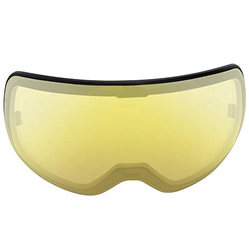 SH HORVATH Ski Goggles Replacement Detachable Dual Lens Spherical UV Protection VLT 81% Super Anti-Fog Windproof Scratch Resistant Snowmobile Skiing Skating Yellow
