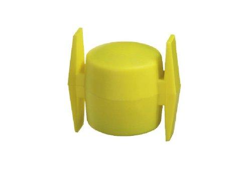 GAH-Alberts 654276 Kreuzkopf für Wäschpfähle, gelb, für Rohr: Ø44 mm