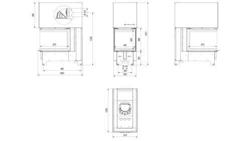 Panorama 3 de discos de chimenea Kratki NBU 11 con puerta corredera: Amazon.es: Bricolaje y herramientas