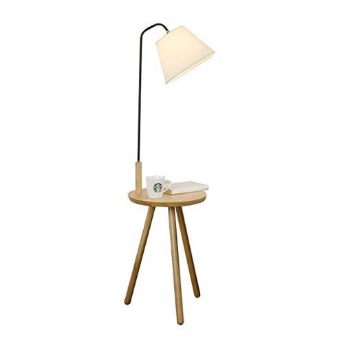 WEM Neuheit Lampen Für Den Hausgebrauch, Moderne Minimalistische Stehlampe Massivholz Lagerung Wohnzimmer Schlafzimmer Mit Tisch Vertikale Tischlampe