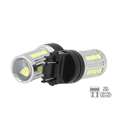 LED-lamp T25 3157 P27 / 7 W 12 V 5 W 21 SMD 5730 super helder wit voor Japanse auto's