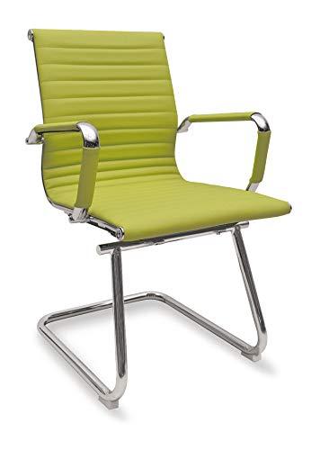Sedia Ergonomica da Ufficio Attesa o Visitatori Modello Rem Slitta Colore Verde