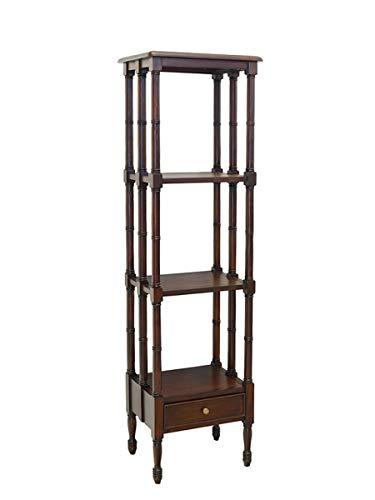 Antike Fundgrube Regal Bücherregal Standregal antik Stil Nussbaum-Farbton dunkel H: 160 cm (8530)