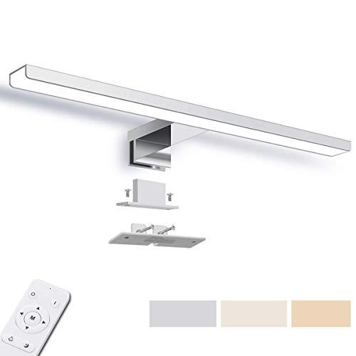 LED Spiegelleuchte 40cm, SOLMORE Dimmbar Badleuchte mit Fernbedienung, IP44 Wasserdichte Badlampe, 3 Farben 1200LM 220V für Badzimmer und Wandbeleuchtung