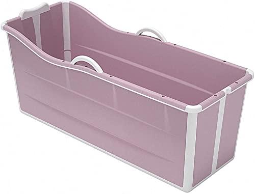 VIVOCC Bañera portátil para Mascotas, bañera de hidromasaje Plegable para Adultos, bañera de remojo Plegable para estancamiento de Ducha Independiente, bañera no Inflable, (Color : Pink)