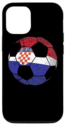 iPhone 12/12 Pro Croatia Soccer Ball Flag Jersey - Croatian Football Case