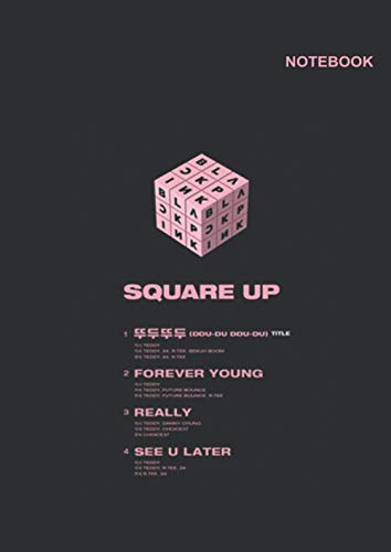 Blackpink speak yourself notebook: 110 White Pager, Lined Writing Notebook, A4 Size (8.27 x 11.69 inches), Blackpink Rubik Notebook Cover.