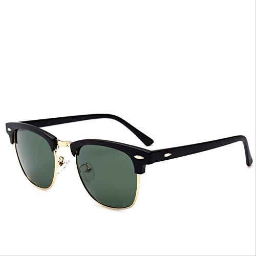 ODNJEMSD Gafas De Sol Clásicas Gafas De Sol Polares Universales para Hombre Y Mujer con Gafas De Sol Retro Medio Enmarcadas