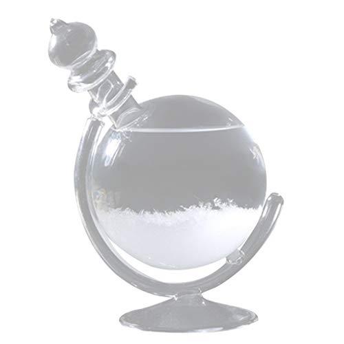 UEXCN Globe Glas-Sturmflasche mit Standfuß, Wetterstation, Wettervorhersage, Glas dekorieren Zuhause