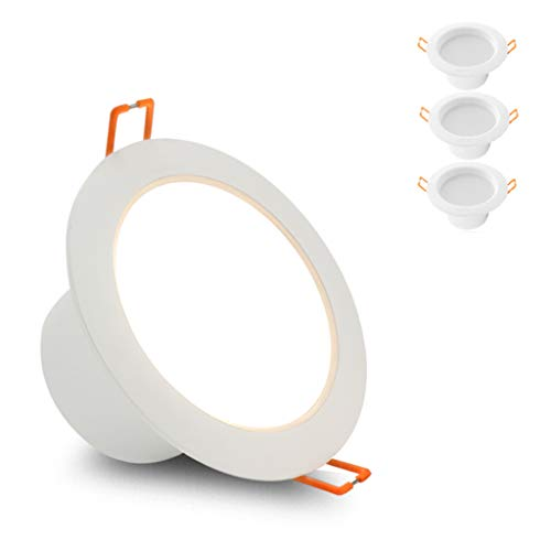 WRMOP 3-delige set / 5 spots LED Embedded Panel Light 3W open gat 3 inch woonkamer plafondlamp R/20/03/06