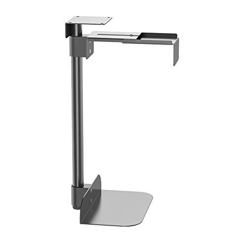 HFTEK Computerhalterung Tischhalterung Rechnerhalter Lift Tischhalter Gehäusehalter Untertisch Halterung - seitlich vertikal/schwarz - drehbar - flexibel 360° (PH50B)