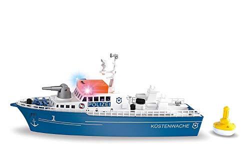 siku 5401, Polizeiboot, Kunststoff, Blau/Weiß, Wasserkanone, Licht, Sound, Heckklappe, Inkl. Boje