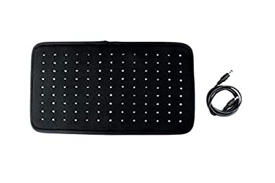 Near Infrared & Red Light Therapy Pad for Pain Relief (Single Pad Without Timer, AC Adapter, Power Cord & Wraps)