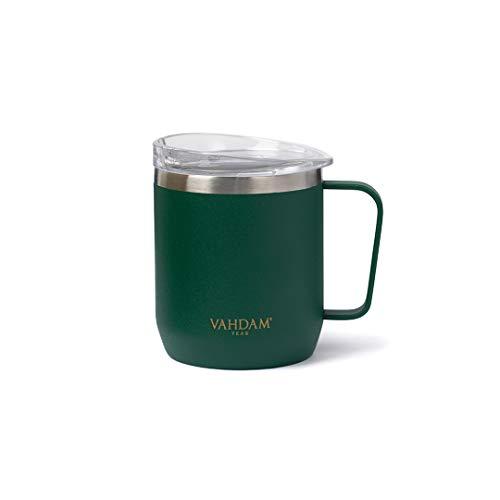 VAHDAM Drift Tazza da tè da Viaggio (300ml) in Acciaio Inox 18/8   Tazza Termica   Riutilizzabile   Approvata dalla FDA per Bevande Fredde o Calde   Ecofriendly e Sostenibile termos caffè