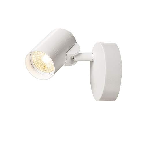 SLV Helia–Lámpara de pared y techo, aluminio, color blanco, Single