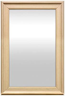 999Store Fiber Framed Decorative Wall Mirror or Bathroom Mirror White (30X20)