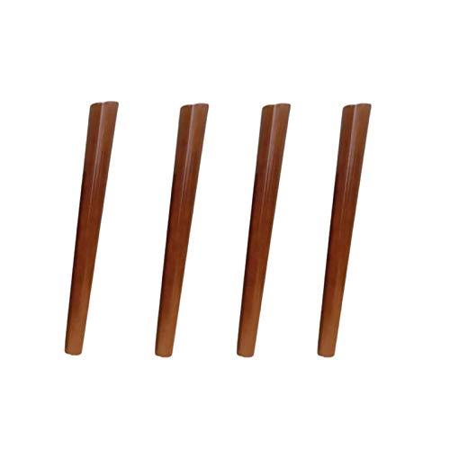 4X Gambe per mobili in legno massello, Gambe di ricambio per divano conico, Gambe per mobili fai-da-te, per divano letto Poltrona ottomana Tavolo reclinabile Comò, Accessori hardware, Noce (