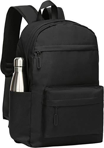 SAKUTANE Mochila Negra Impermeable, de 21 litros, portátil, Bolsa Escolar para Hombre, Mujer, niña o niño, 33 x 14 x 40 cm para Viajes, Senderismo Negocios