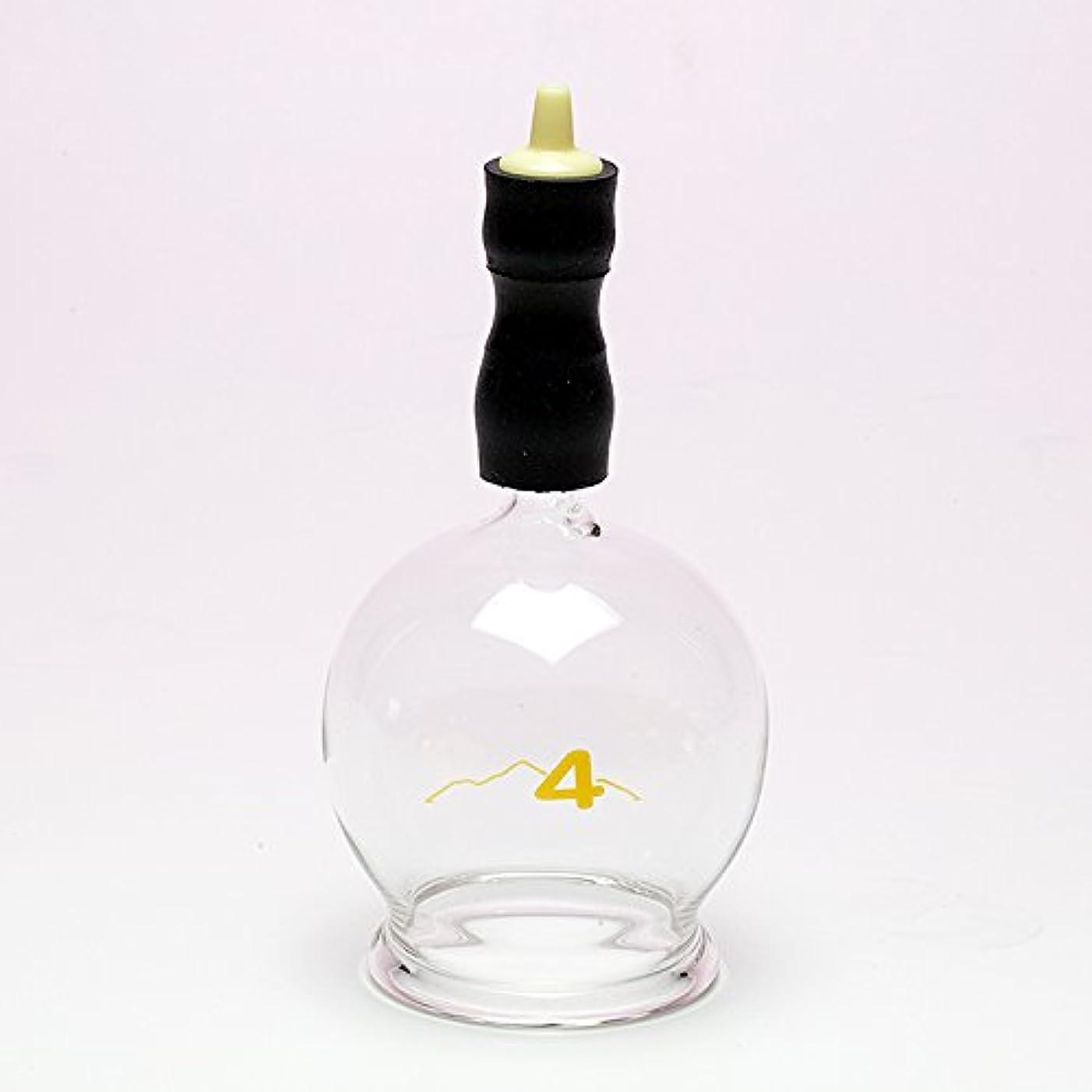 させる移行する対人霧島ガラス玉(電動吸い玉機器用吸着具)完成品4号