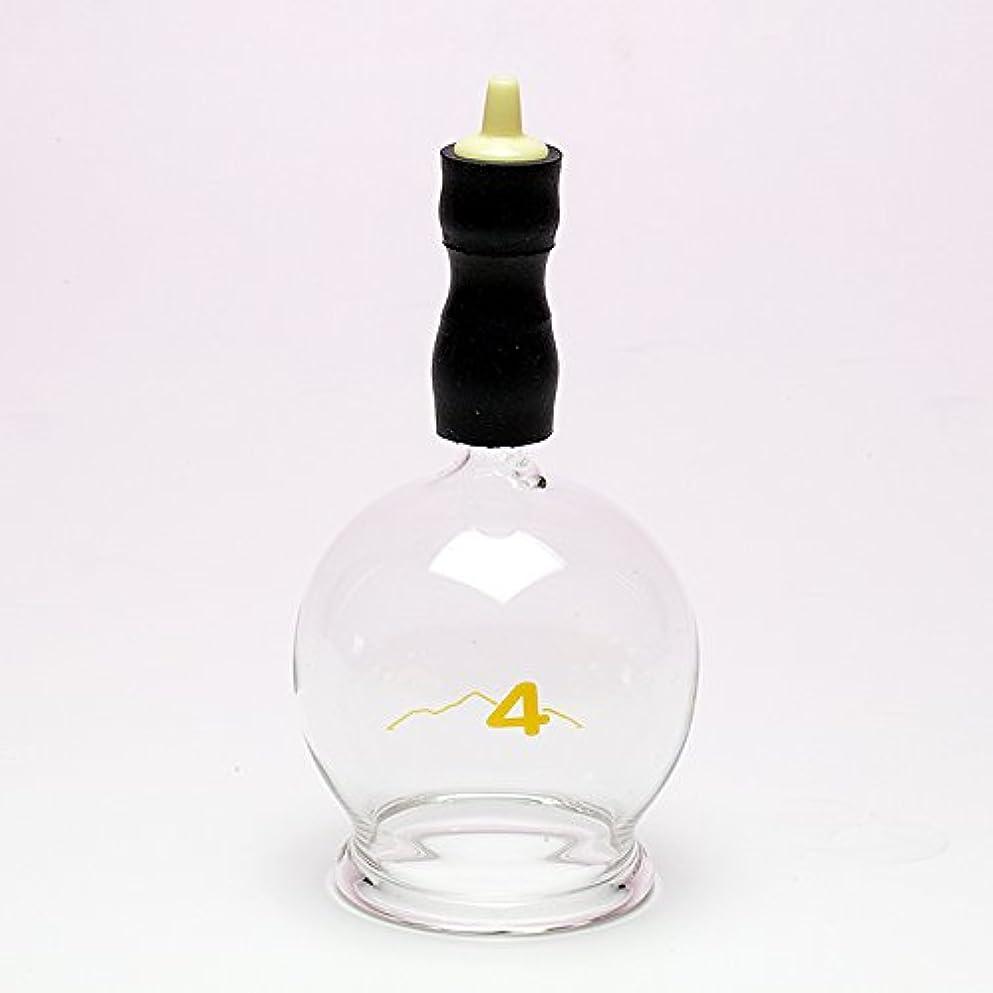 アプライアンス下品等しい霧島ガラス玉(電動吸い玉機器用吸着具)完成品4号