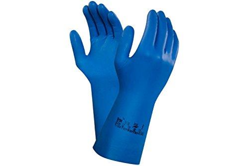 Ansell Virtex 79-700 Guanti in nitrile Blu Gr. 7, Dimensione:7