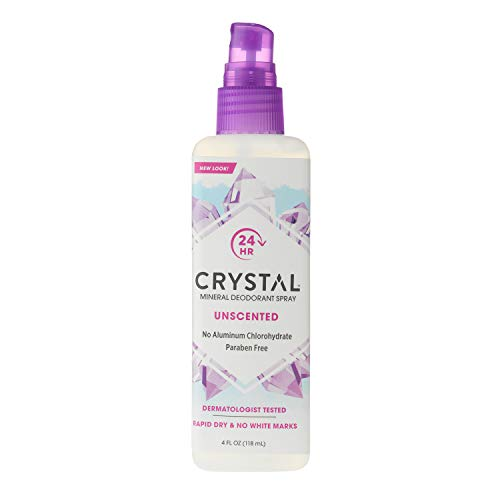 Crystal Mineral Deodorant Spray, Unscented, 4.0 oz
