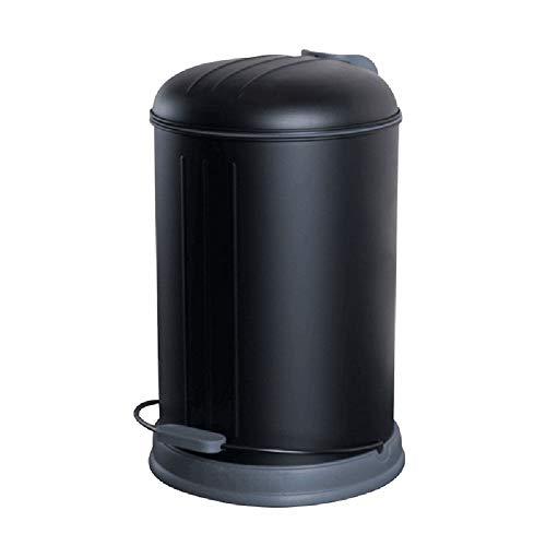 SONGDP Corbeilles à Papier Poubelle Ronde Bin Poubelle à pédale de Recyclage de Style américain , Adaptée aux systèmes de séparation des déchets de Bureau/Salle de Bain/Cuisine , 12L, Noir Mat pou