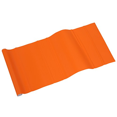 SODIAL(R)150 * 30cm 3D Film vinyle autocollant de carrosserie / Decoration d'Interieur de voiture en fibre de carbone Orange