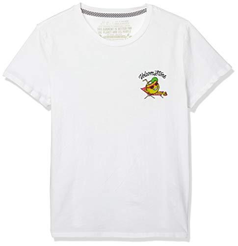 Volcom Damen Stoked ON Stone Tee T-Shirt, weiß, Klein