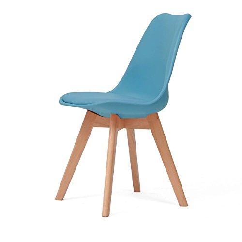 YUN HAI Klappstuhl Hocker Home Esszimmerstühle Platzsparende Computer Holzhocker Stuhl (Farbe : Blau)