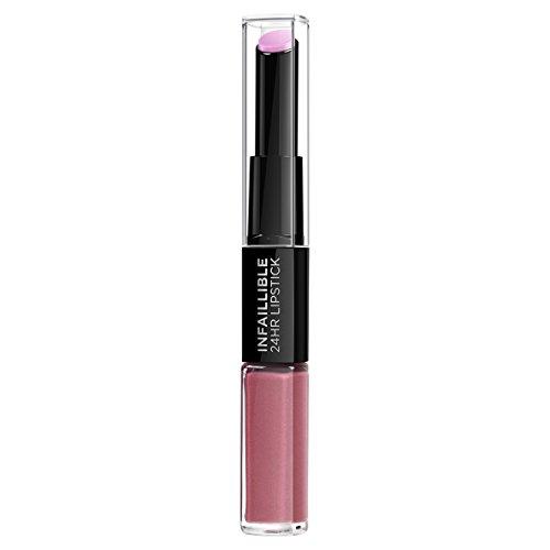 L'Oreal Paris Lippen Make-up Infaillible Lippenstift, 213 Toujours Teaberry /Liquid Lipstick für 24 Stunden volle Lippen mit feuchtigkeitsspendendem Lippenpflege - Balsam, 1er Pack
