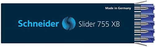 Schneider #755 Slider Giant Ink Refill XB (Box of 10) (Blue)