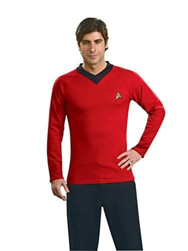 Rubie's Offizielles Star-Trek-Kostüm, klassisches Deluxe-Hemd, Rot