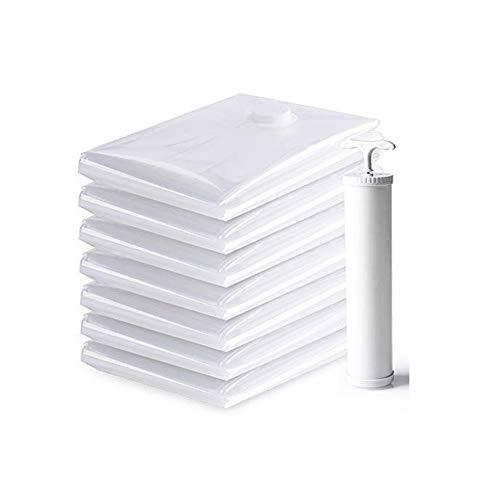 DYXYH Bolsa de almacenamiento: bolsas de almacenamiento de vacío, paquete de 8, bolsas de ahorro de espacio reutilizables con doble cierre hermético y válvula de fuga, bolsas de almacenamiento for rop