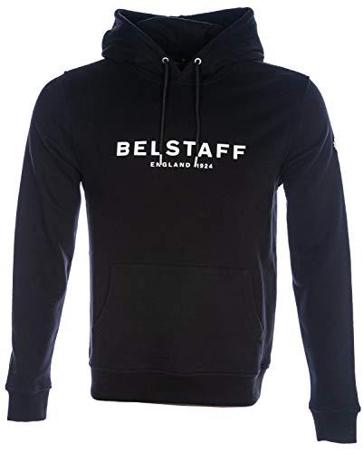 Belstaff 1924 Pullover Hooded Sweatshirt in Black