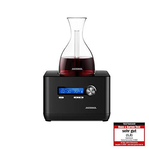Gastroback 47000 Home Sommelier, Weindekantierer, vollautomatischer, elektronischer Dekanter, 55, Kunststoff, schwarz
