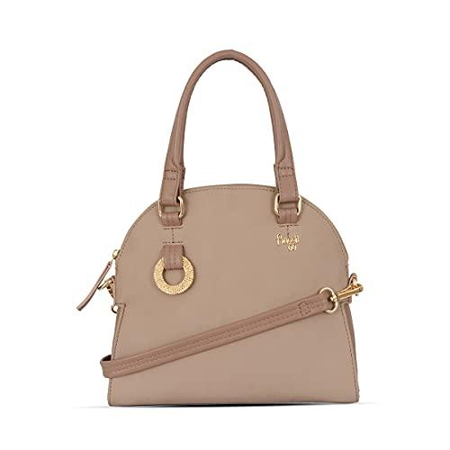 Baggit Spring-Summer 2021 Faux Leather Women's Bowling Handbag (Pink) (Avalon)