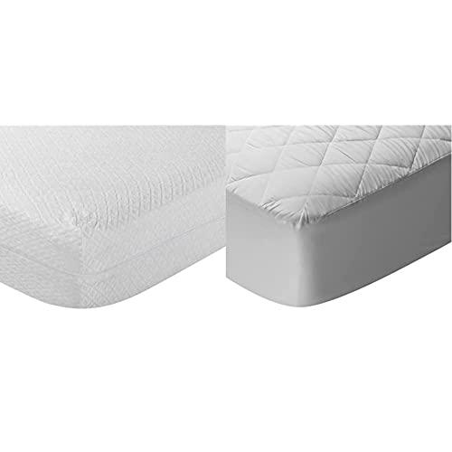 Pikolin Home Funda de colchón Rizo, antialérgico (antiácaros, bacterias y antimoho). 90x190/200cm-Cama 90 (Todas Las Medidas) + Protector de colchón, Cubre colchón Acolchado, Impermeable