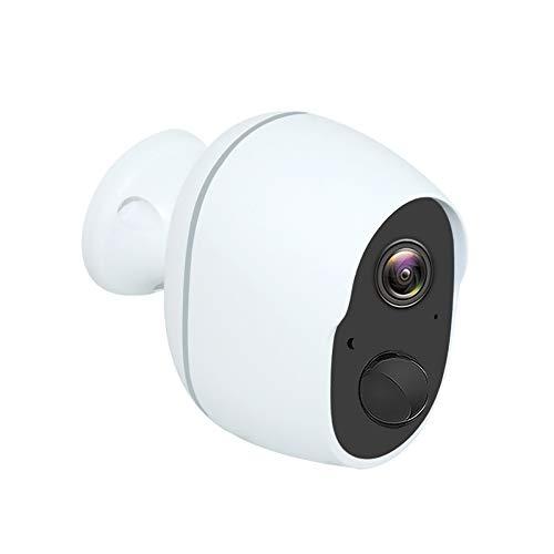 Cámara de Seguridad WiFi inalámbrica Recargable con batería, cámara inalámbrica IP 1080P HD sin Cables Sistema de vigilancia del hogar PIR con visión Nocturna, detección de Movimiento