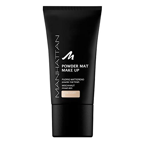 Manhattan Powder Mat Make-up – Mattierendes Puder und Foundation in einem, Farbe Rose Ivory 78 – 1 x 30ml