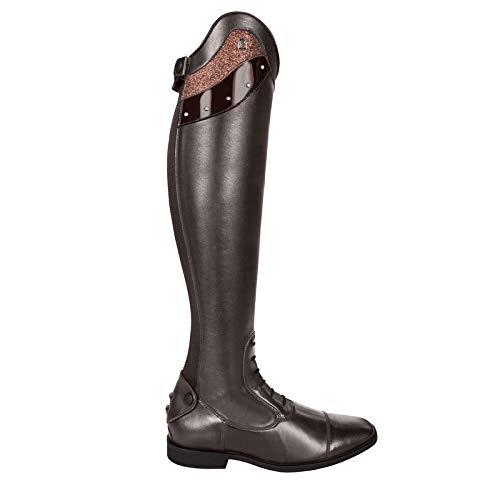 Cavallo Reitstiefel Linus Slim Edition Lack Strass Bling | Farbe: Mocca | Größe: 4-4½ | Schaftform: 48/34