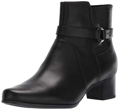 Price comparison product image Clarks Women's Un Damson Mid Ankle Boot,  Black Leather,  100 M US