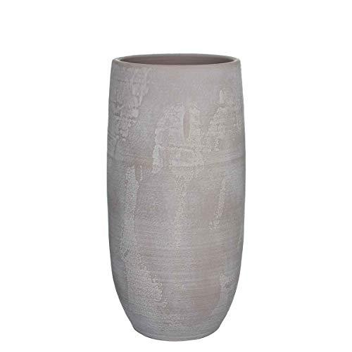 MICA Decorations Deko Vase Ramon Handgemacht - H 55 x Ø 26 cm - Blumenvase - Bodenvase hoch - Hoher Übertopf Innen (Taupe)