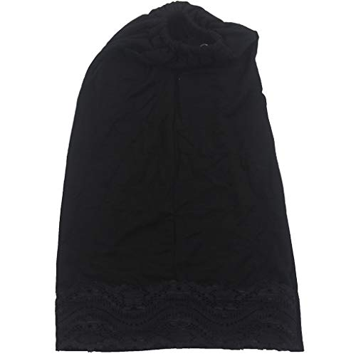 YEZIJIN Women Muslim Stretch Turban Hat Chemo Cap Hair Head Scarf Headwrap Shower Cap 2019 Best Outdoor Sun Visor Hat Black