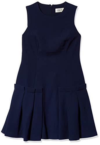 Eliza J Women's Petite A Line Sheath Dress, Navy, 14