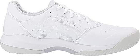 ASICS Men's Gel-Game 7 Tennis Shoes, 12M, White/Silver
