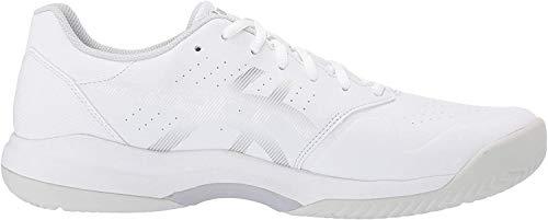 ASICS Men's Gel-Game 7 Tennis Shoes, 8M, White/Silver