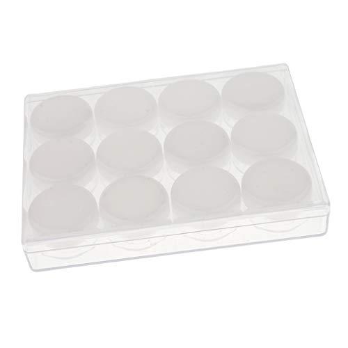 Sharplace 12pcs 10g Pot Vide en Plastique Récipient Cosmétique avec Couvercle pour Échantillon de Crèmes Stockage de Maquillage - Blanc